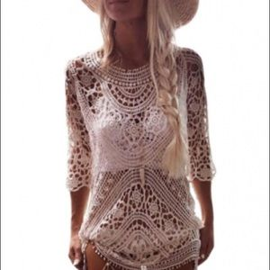 Crochet babe cover up